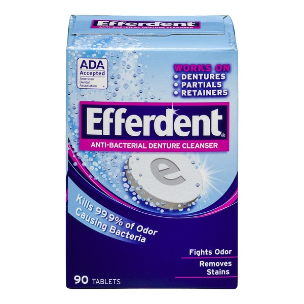 Efferdent Anti-Bacterial Denture Cleanser - 90 CT