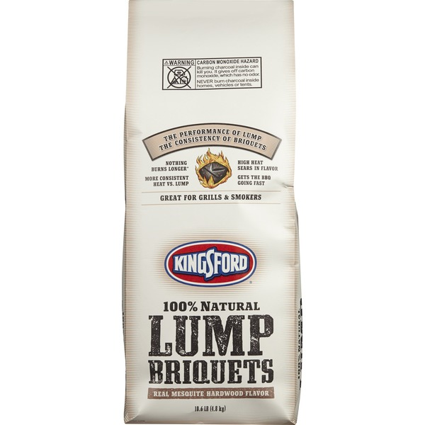 Kingsford 100% Natural Lump Briquets Real Mesquite Hardwood Flavor