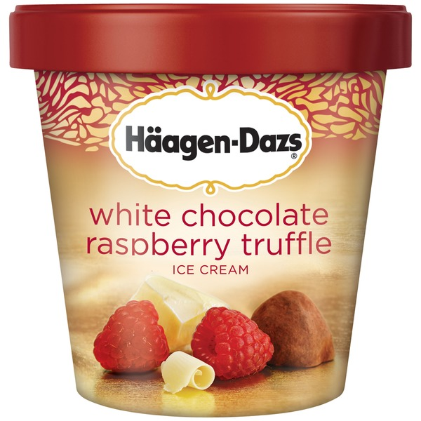 Haagen-Dazs White Chocolate Raspberry Truffle Ice Cream