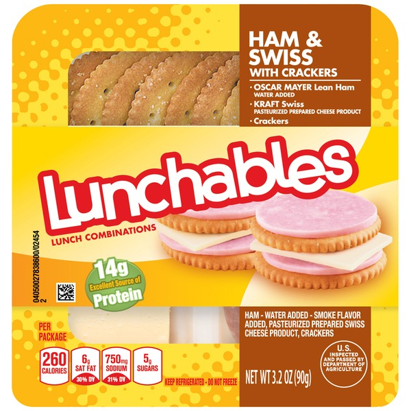 Oscar Mayer Lunchables Ham & Swiss with Crackers Lunch Combination