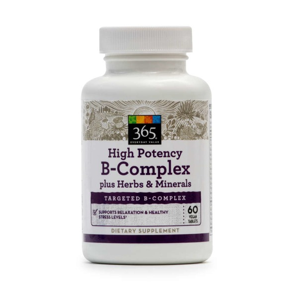 365 High Potency B Complex plus Herbs & Minerals Dietary Supplement