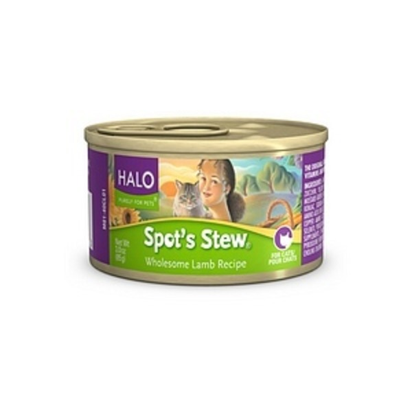 Halo Spot's Stew Wholesome Lamb Recipe Cat Food