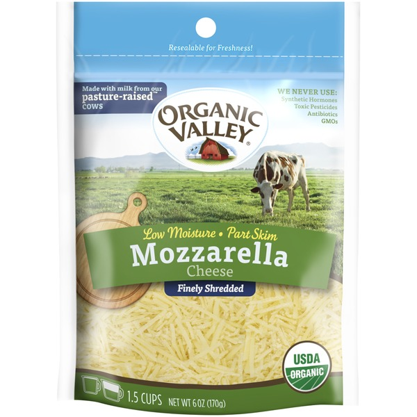 Organic Valley Mozzarella Fancy Shredded Cheese