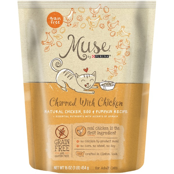 Muse Dry Charmed With Chicken Natural Chicken, Egg & Pumpkin Recipe Cat Food