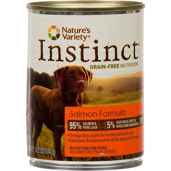 Nature's Variety Instinct Grain Free Salmon Canned Dog Food 13.2 Oz. Case Of 12