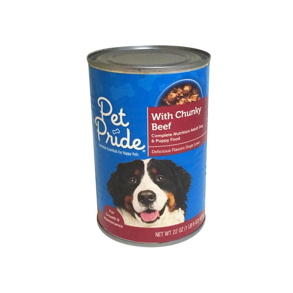 Petes Pride Wet Dog Food With Chunky Beef