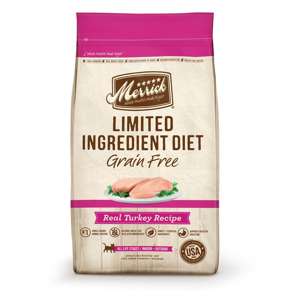 Merrick Limited Ingredient Diet Grain Free Turkey Cat Food 4 Lbs.