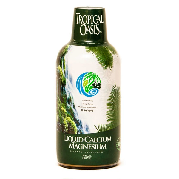 Tropical Oasis Orange Flavor Calcium Magnesium Liquid