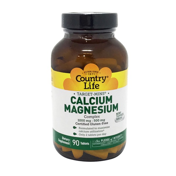 Country Life Calcium-Magnesium Complex 1000 mg