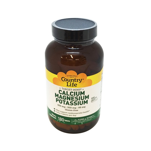 Country Life Cal Mag Potassium 500/500/99 Tablets