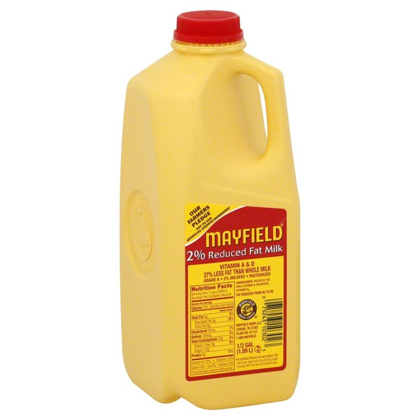 Mayfield 2% Reduced Fat Milk, Vitamin A & D, Jug