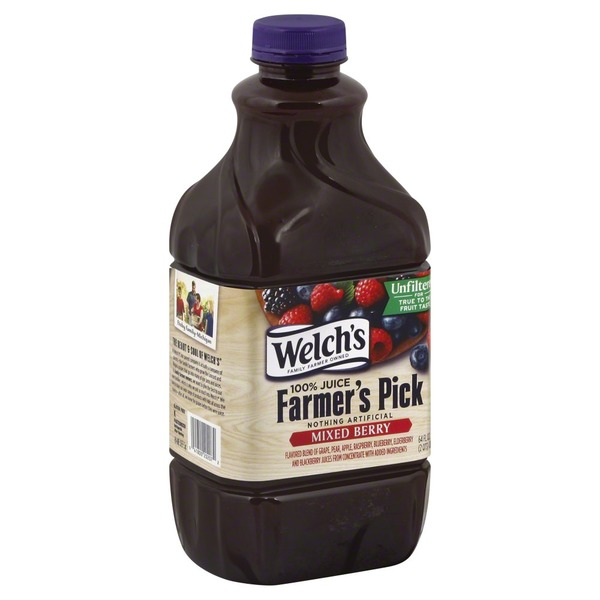 Welch's Juice, Unfiltered, Mixed Berry, Farmer's Pick, Bottle
