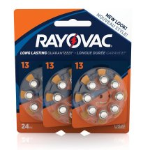 Rayovac Size 13 Hearing Aid Batteries, 24 Count