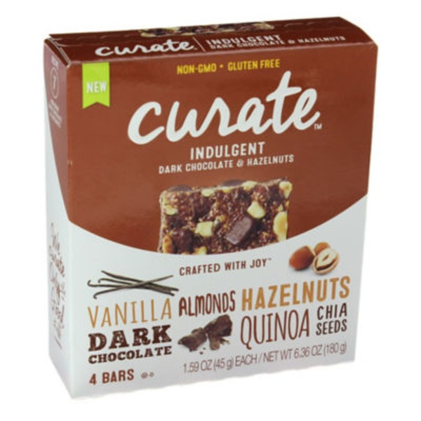Curate Indulgent Dark Chocolate & Hazelnuts Snack Bars