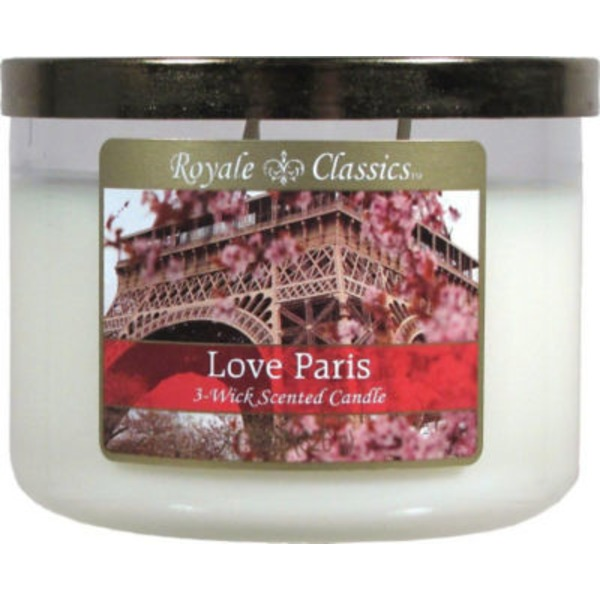 Candle Lite Essential Elements 3 Wick Candle with Soy Wax, Jasmine and Patchouli