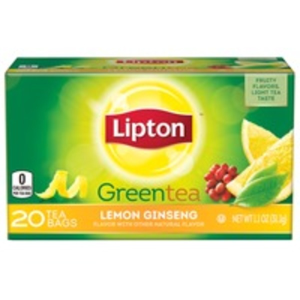 Lipton Lemon Ginseng Green Tea Bags