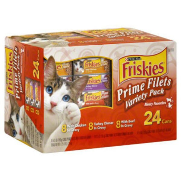Friskies Prime Filets Meaty Favorites Variety Pack Cat Food