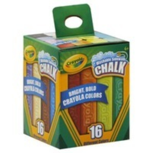 Crayola Assorted Colors Washable Sidewalk Chalk