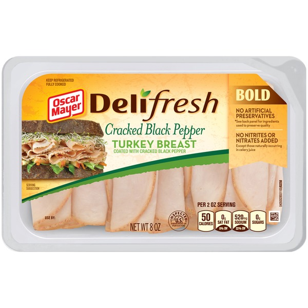 Oscar Mayer Cracked Black Pepper Shaved 98% Fat Free Turkey Breast