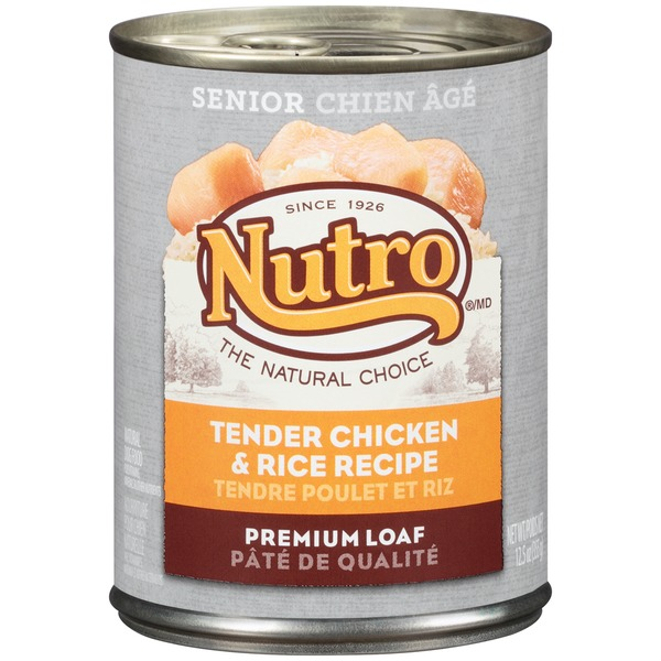 Nutro Senior Premium Loaf Tender Chicken & Rice Recipe Dog Food