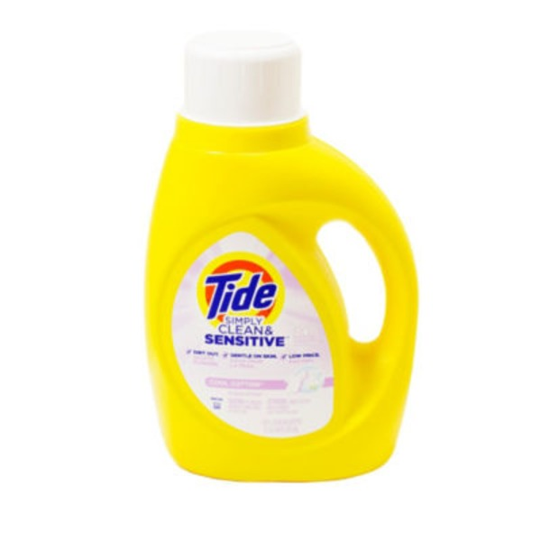 Tide Simply Clean & Sensitive HE Liquid Laundry Detergent, Cool Cotton Scent, 24 Loads 50 Fl Oz Laundry