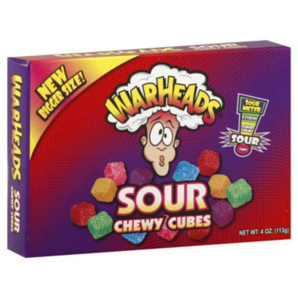 Warheads Mildly Sour Wildly Sweet Chewy Cubes