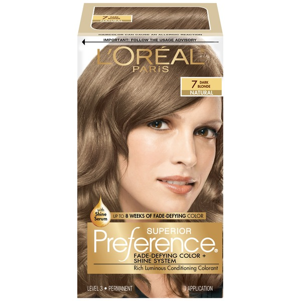 Superior Preference Natural 7 Dark Blonde Hair Color