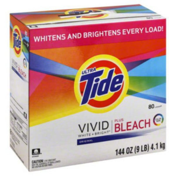 Tide With Bleach Alternative HE Turbo Powder Laundry Detergent, Original Scent, 80 loads, 144 oz Laundry