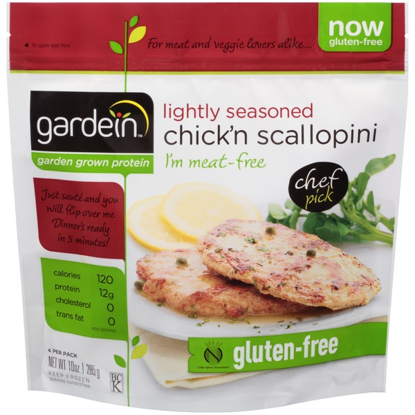 Gardein Lightly Seasoned Chick'n Scallopini