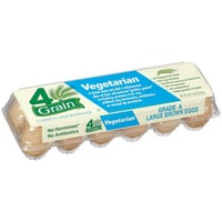 4 Grain Large Brown Vegetarian Eggs