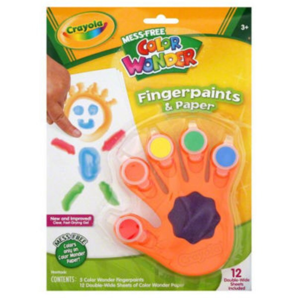 Crayola Color Wonder Mess Free Fingerpaints & Paper