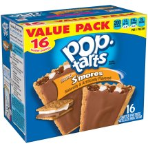 Kellogg's Pop Tarts Frosted S'mores Toaster Pastries Value Pack, 16 count, 29.3 oz