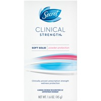 Secret Clinical Strength Secret Clinical Strength Antiperspirant and Deodorant Soft Solid, Powder Protection, 1.6 Oz. AP/DO & Body Spray