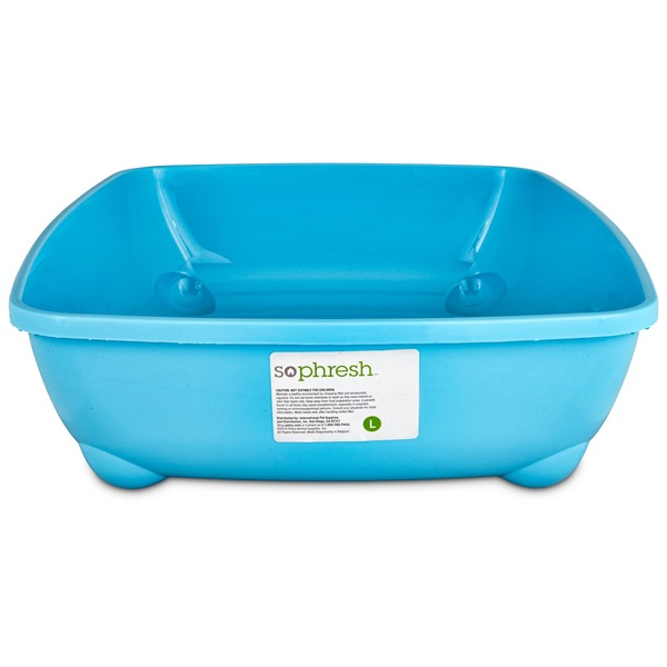 So Phresh Aqua Blue Large Open Litter Box