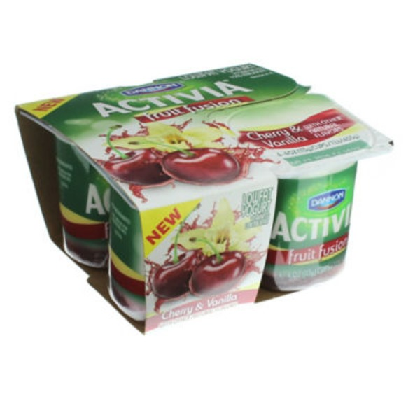 Activia Fruit Fusion Cherry & Vanilla Yogurt