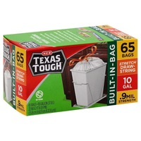 H-E-B Texas Tough Flex 10 Gallon Trash Bags