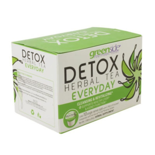 Greenside Detox Herbal Tea Everyday, Single Serve Cups