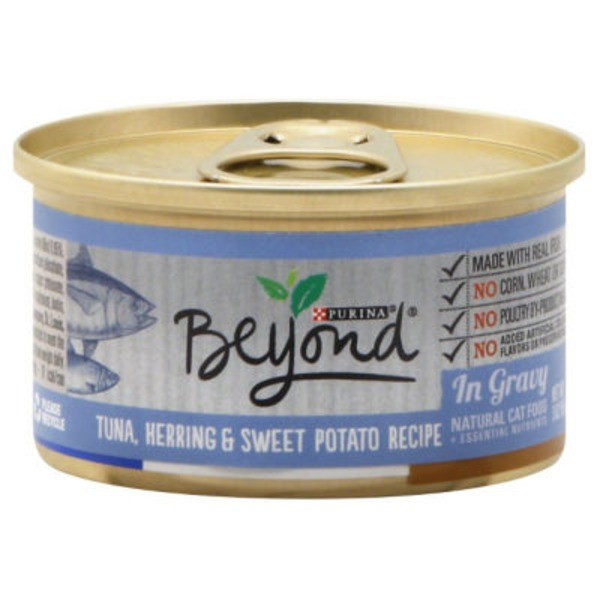 Purina Beyond Cat Wet Tuna Herring & Sweet Potato Recipe in Gravy Cat Food