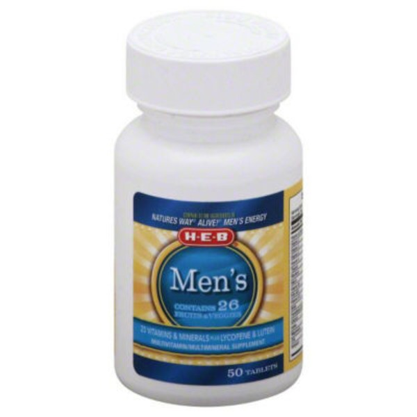 H-E-B Men's Energy Multivitamin Tablets