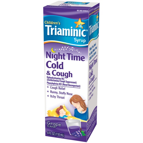 Triaminic Children's Grape Flavor Night Time Cold & Cough Syrup