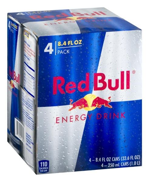 Red bull energy reg 4 pack