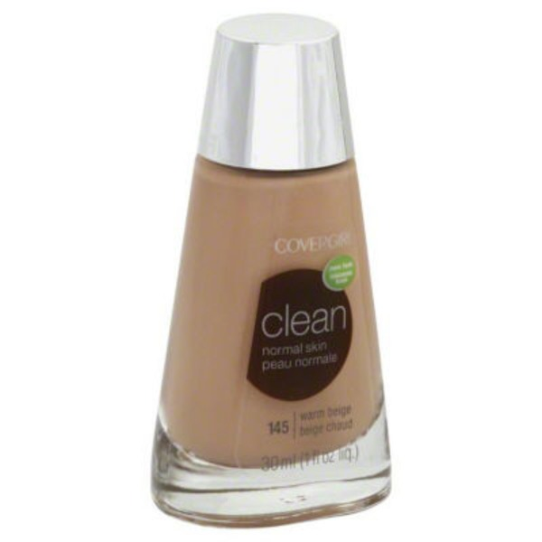 CoverGirl Clean COVERGIRL Clean Makeup Foundation, Warm Beige 1 fl oz (30 ml) Female Cosmetics