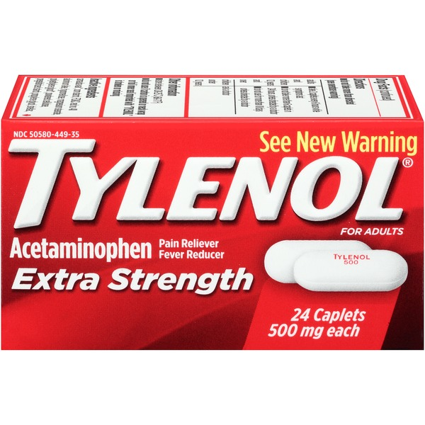 Tylenol® Pain Reliever Fever Reducer Extra Strength For Adults Acetaminophen