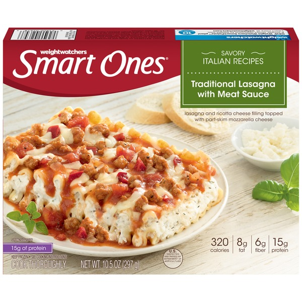 Weight Watchers Smart Ones Savory Italian Recipes Traditional Lasagna with Meat Sauce