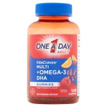 One A Day Adult VitaCraves +Omega-3 Gummies Multivitamin, 100 Count