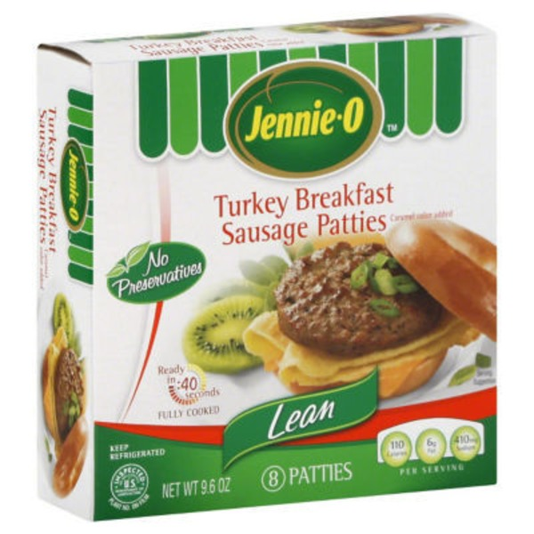 Jennie-O Turkey Breakfast Sausage, Patties, Lean