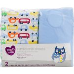 Parent's Choice Fitted Crib Sheets, Cars, 2 Count, 28 in X 52 in