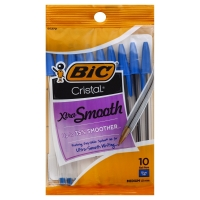 Bic Ball Pens Cristal Xtra Smooth Medium 1.0 mm Blue Ink