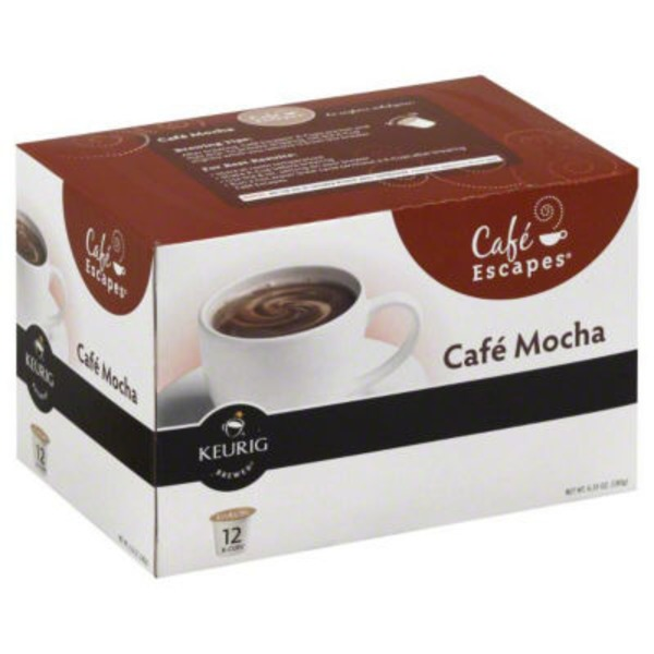 Cafe Escapes Cafe Mocha K-Cup Packs Coffee