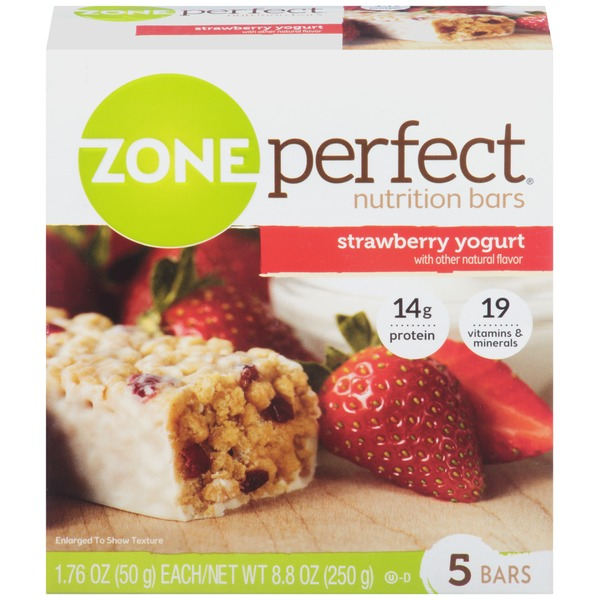 Zone Perfect Strawberry Yogurt Nutrition Bars